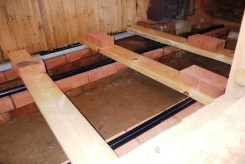 Как самому сделать бетонный пол в бане