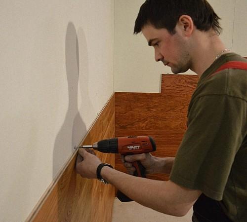 Установка стеновой панели пвх на кухне своими руками