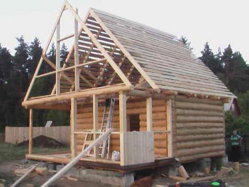 Фото как сделать крышу бани своими руками