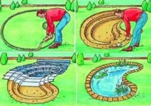 Пошагово с сделать водоем