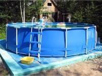 Как сделать основание для каркасного или надувного бассейна своими руками