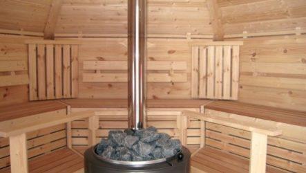Мини-баня на участке