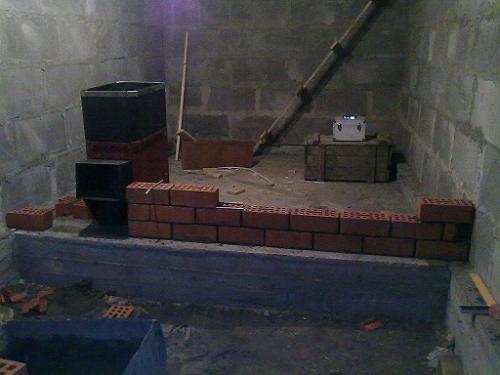 перегородки в бане из блоков
