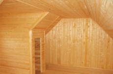 Конструкция мансарды в бане
