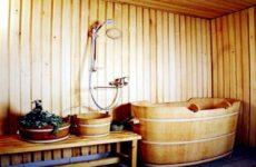 Пластиковая и деревянная купель для бани своими руками