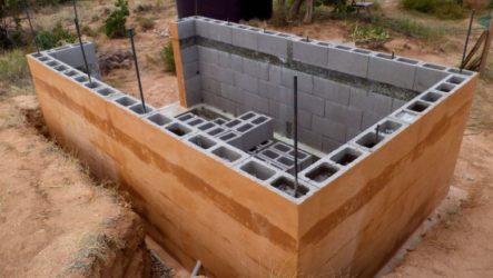 Как самостоятельно построить мини баню из пеноблоков