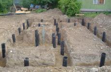 Строительство фундамента на глине