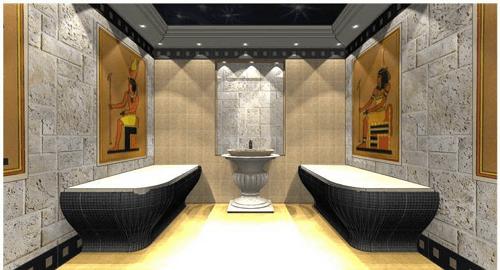 Помещение современной египетской бани