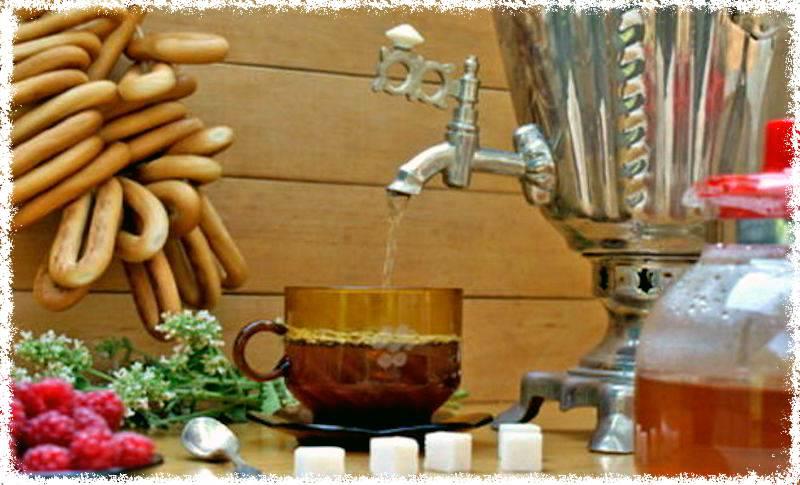 травяной чай после бани,
